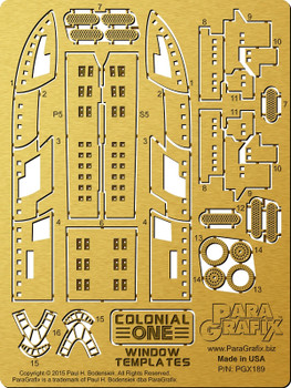 Colonial One Window Templates