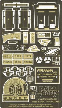 Piranha Super Spy Car Photoetch & Decal Set