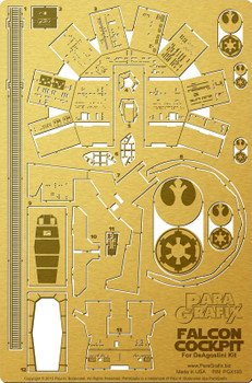Millennium Falcon Cockpit Photoetch for DeAgostini Subscription Kit