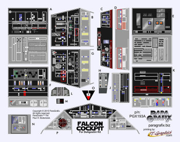 Star Wars - DeAgostini Millenium Falcon Cockpit Decals