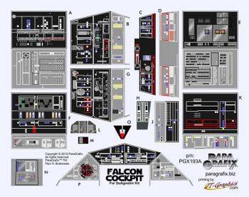 Star Wars - DeAgostini Millenium Falcon Cockpit Decals