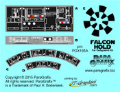 Star Wars - Millennium Falcon Hold Duplicate Decals for DeAgostini SubscriptionKit