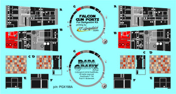 Star Wars - Millennium Falcon Gun Port Duplicate Decals for the DeAgostini Kit