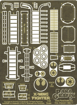 Star Wars - X-Wing Fighter Photoetch Set, for Revell/FineMolds 1/48 scale kit