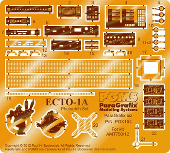 Ghostbusters - Ecto-1A Photoetch Set for AMT 1/25 scale kit