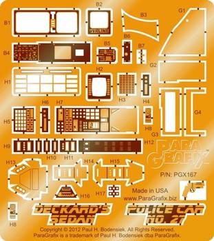Blade Runner - Deckard's Sedan/Police Car no. 27 Photoetch Set