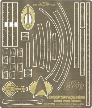 Deep Space 9 Window Drilling Templates