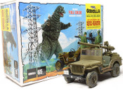 Godzilla Army Jeep 1:25 Scale Model Kit - MPC 882