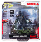 Godzilla Silver Screen Series Façade Diorama - Japan Poilce Reserve Corps. Willys MB Jeep Johnny Lightning