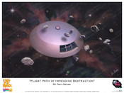 Lost in Space Jupiter 2 Print - Flight path of Impending Destruction - Ron Gross