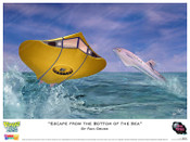"""Voyage to the Bottom of the Sea - """" Escape from the Bottom of the Sea """" Print"""