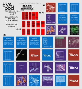 2001 A Space Odyssey EVA Pod Display Screens (PGX223) Moebius Kit 2001-4