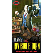 HG Wells Invisible Man Plastic Assembly Kit, 1/8 Scale - Moebius Models