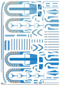 Polar Lights Star Trek U.S.S. Excelsior Aztec Decal Set