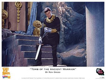 "Lost In Space ""Tomb of the Ancient Warrior"" Art By Ron Gross - Print"