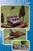 UFO - Shado1 MOBILE WITH SKY 1 AND WOODLAND DISPLAY BASE