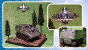 UFO - Shado 2 MOBILE WITH UFO SAUCER AND WOODLAND DISPLAY BASE