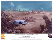 "Lost In Space ""Marooned on the Lost Planet"" Art By Ron Gross - Print"