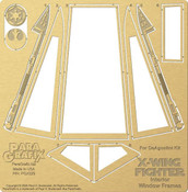 Star Wars - X-Wing Canopy Frames -  1/18 Scale For DeAgostini Kit - PGX229