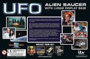 UFO SAUCER WITH LUNAR DISPLAY BASE