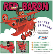 Red Baron Fokker Triplane with Motor SNAP - SNOOPY