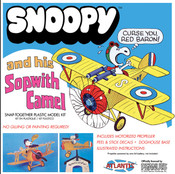 Snoopy and his Sopwith Camel with Motor SNAP KIT