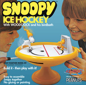 Snoopy and Woodstock Bird Bath Ice Hockey Game