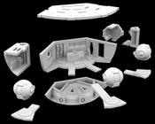 2001 A Space Odyssey - Discovery XD-1 EVA Pod Bay for Moebius 1/350 Scale Kit