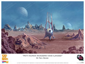 """Lost In Space - """"Anti-Human Invaders Have Landed"""" - Print"""