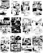 UFO - Original Art pages from UFO comic #0