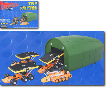 Thunderbirds - Aoshima 1:200 scale TB2 Pod with Elevator Cars & Recovery Vehicle