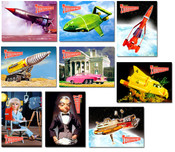 Thunderbirds Refrigerator Magnets