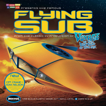 Voyage to the Bottom of the Sea 1/32 Flying Sub Model by Moebius (817)