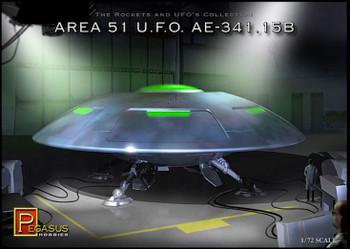 Pegasus Models - Area 51 UFO AE-341.15B Model Kit