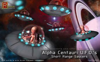 Alpha Centauri UFOs Short Range Saucers Model Kit