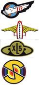 Stickers - Thunderbirds XL5 Supercar & Captain Scarlet