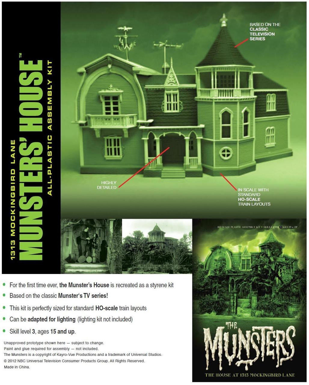 The Munsters House Model Kit