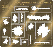 Battlestar Galactica - Damaged Hull & Fuselage Panels (PGX134)
