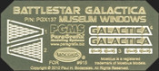 Battlestar Galactica Museum Windows (PGX137)