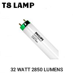 T8 4FT FLUORESCENT TUBE 32 WATT 2850 LUMENS 5000K PHILIPS F32T8/TL850/ALTO
