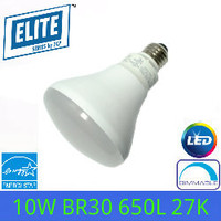 LED BR30 FLOOD 10 WATT 650 LUMEN 120V 2700K TCP LED10BR30D27K