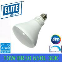 LED BR30 FLOOD 10 WATT 650 LUMEN 120V 3000K TCP LED10BR30D30K