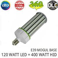 LED CORN COB LIGHT LAMP 120 WATT 14,000 LMS 5000K 360° REPLACES 400 WATT HID VE LTG CLW120WA1-E39-5000K