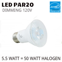 PAR20 LED LIGHT BULB GREEN CREATIVE 5.5PAR20DIM/830FL40