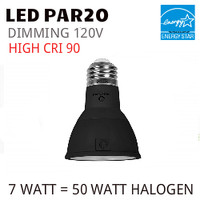 PAR20 LED LIGHT BULB GREEN CREATIVE 7PAR20G4DIM/930FL40/B