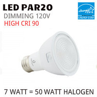 PAR20 LED LIGHT BULB GREEN CREATIVE 7PAR20G4DIM/940FL40