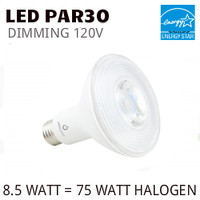PAR30 LED LIGHT BULB GREEN CREATIVE 8.5PAR30DIM/827FL40