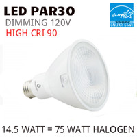 PAR30 LED LIGHT BULB GREEN CREATIVE 14.5PAR30G4DIM/930SP15