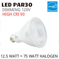 PAR30 LED LIGHT BULB GREEN CREATIVE 12.5PAR30G4DIM/940FL40