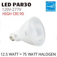 PAR30 LED LIGHT BULB GREEN CREATIVE 12.5PAR30G4/930FL40/277V
